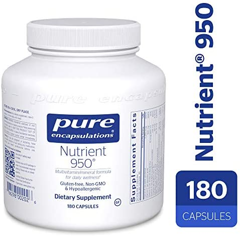 Pure Encapsulations – Nutrient 950 – Hypoallergenic Multi-Vitamin Mineral Formula for Optimal Health* – 180 Capsules