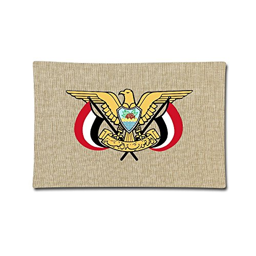 Coat Yemen (LoveoorheebGH Coat Of Arms Of Yemen Home Decor Sofa Cotton Linen Pillow Case 20x30 Inch)