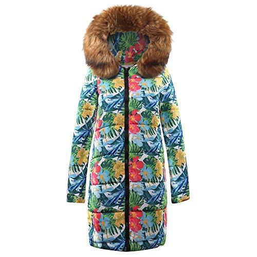 D'hiver Femmes Long En Manteau Capuchon Imprimé Parka Femmes Kinlene À Pour Coton Marron q8FAOxTxw