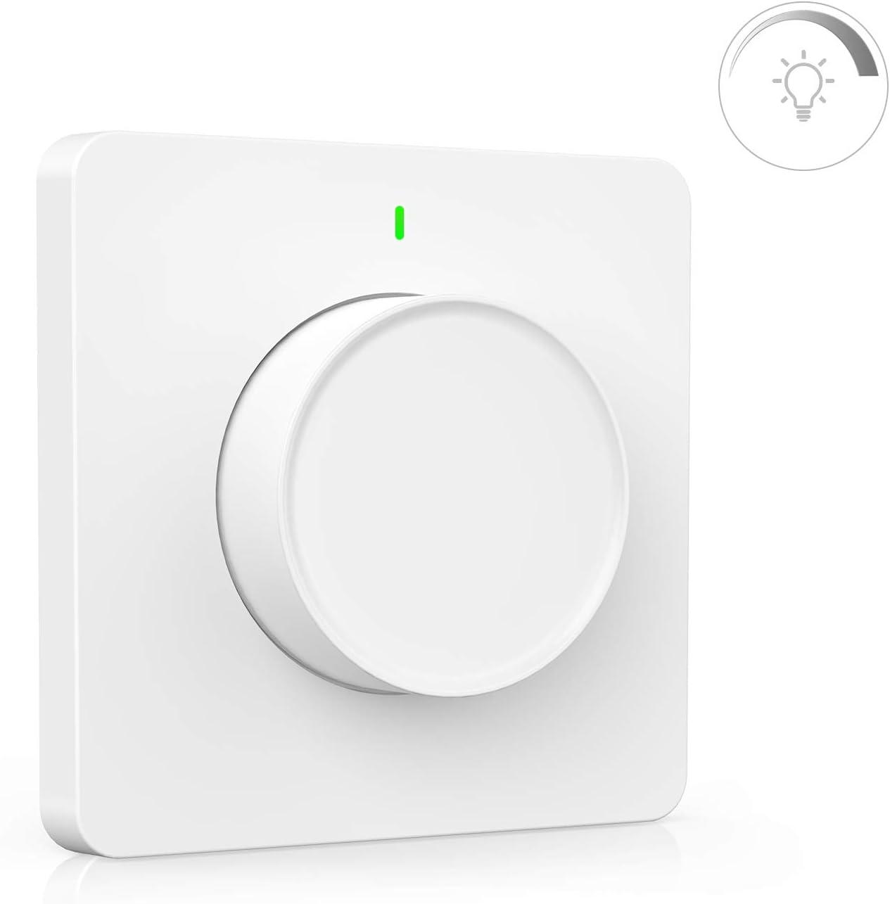 Alexa Dimmer WiFi, Maxcio Interruptor de regulador de luz controlado por App y Voz, Compatible con Alexa(Echo/Dot/Tap) y Google Home, Atenuador de luz con Temporizador, Brillo Ajustable