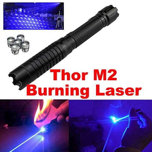 High power blue outdoor pointer tactical hunting sight Thor M2 blue LED flashlight laser with 16340 battery charger for outdoor astronomy teaching site rescue guide pet toys
