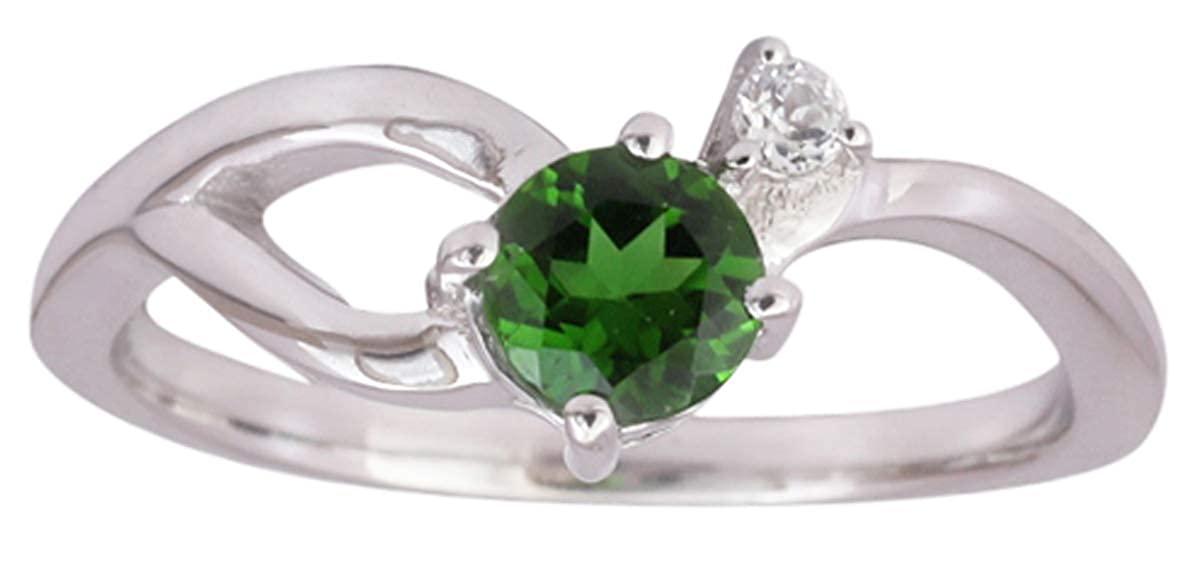 Banithani Chrome Diopside 925 Silver Rings For Women Gemstone Finger Ring Jewelry