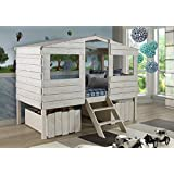 Donco Kids Twin Tree House Loft Bed Rustic Sand 1380-TLRS by Donco Kids
