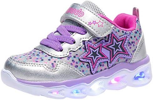 COODO Toddler Girls Sneakers Glitter