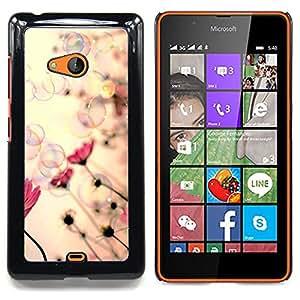 Stuss Case / Funda Carcasa protectora - Flores Burbujas Vignette Primavera Verano - Nokia Lumia 540