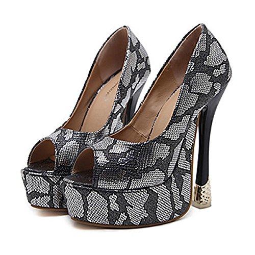 DIMAOL Chaussures Pour Femmes de Similicuir Printemps Automne Nouveauté Confort Bottes Mode Botillon Talon Aiguille Talons Pour Mariage Rouge Noir,Black,US8.5/EU39/UK6.5/CN40