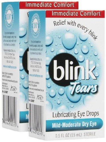 Blink larmes gouttes de lubrification des yeux doux-modéré sécheresse oculaire 0,5 Fl Oz stérile