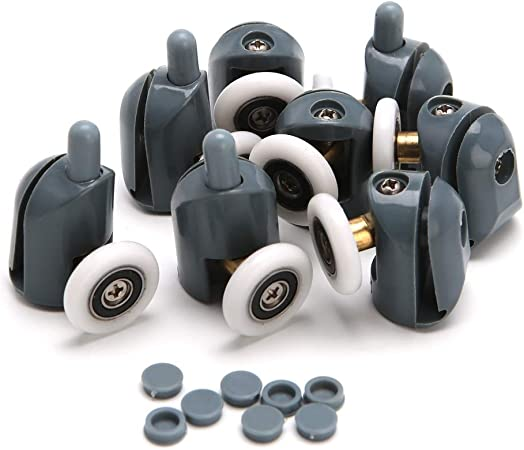 Juego de 8 ruedas para mampara de ducha, 25 mm x 5 mm: Amazon.es: Hogar