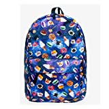 3D Printing Snacks Cats Starry Sky Background Shoulder Bag Backpack Hiking Sports Traveling and School-Multicolored