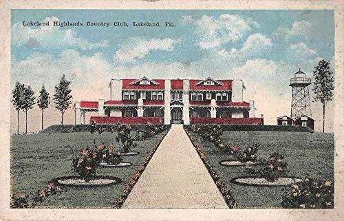 Lakeland Florida Lakeland Highlands Country Club Vintage Postcard JC932024