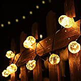 G40 Globe String Lights, 8m / 26ft 25*G40 Warm White LED Copper Wire Bulbs, Indoor and Outdoor Decoration Lighting for Patio, Garden, Party, Wedding, Christmas, etc.