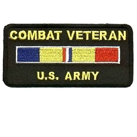 Combat Veteran US ARMY Military Vet Embroidered POW Motorcycle MC Patch PAT-0444 - Military Vet Patch
