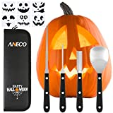 Aneco Professional Halloween Pumpkin Carving Tool Kit Stainless Steel Pumpkin Carving Tool for Halloween Jack-O-Lanterns with 6 Pumpkin Carved Stickers and Storage Bag Review