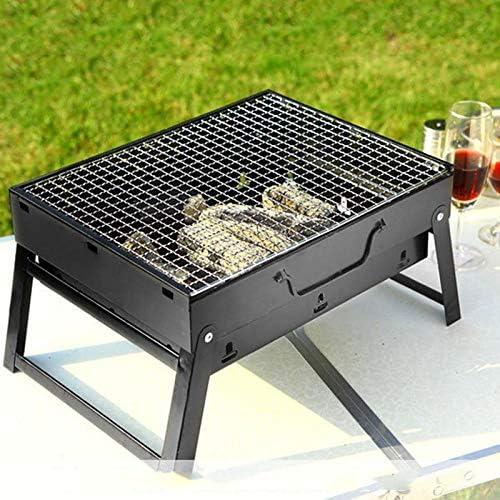 QEDS Barbecue en Plein Air Portable Barbecue Barbecue Grills Brûleur Four Jardin Charbon De Bois Barbecue Patio Partie Cuisson Pique-Nique Pliable pour 3-5 Personne