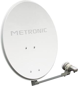 Metronic 498150 Eurasis - Kit digital con LNB universal y parabólica de acero color blanco (60 cm) [Importado de Francia]