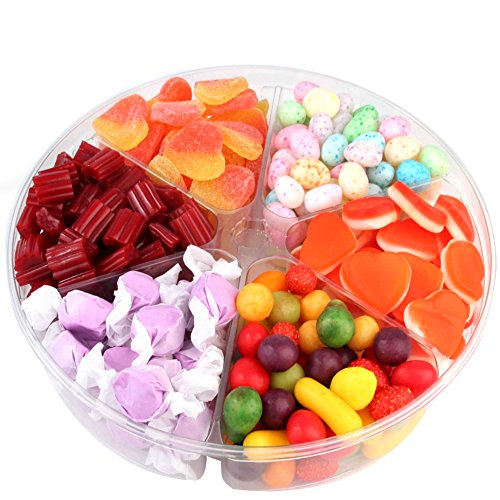 Assorted Candy Sampler Tray, Sweet Candy Gift Basket 6-Section - Oh! Nuts