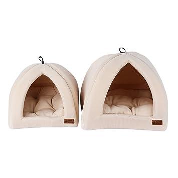 QIAOQI Tienda de campaña para perro, gato, gato, gato, cachorro, cesta de cojín con alfombra plegable: Amazon.es: Productos para mascotas
