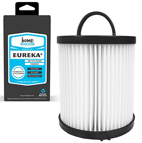 Upright Air Clean Filters - Home Revolution HEPA Filter, Fits Eureka DCF-21 AirSpeed Upright Bagless & Comfort Clean Models