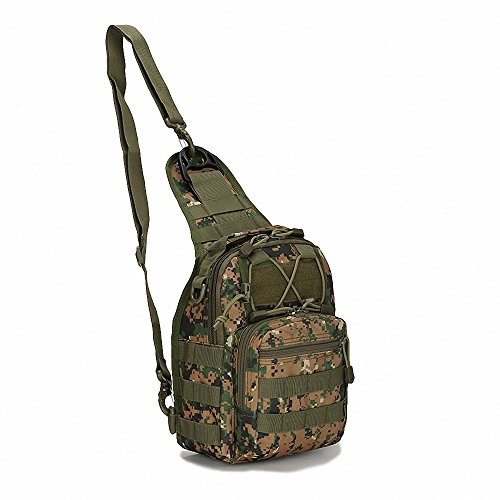 Outdoor Tactical Chest Pack Shoulder Backpack Military Sport Bag for Trekking, Camping, Hiking, Rover Sling Cycling, Adventure, Traveling, Climbing, Hiking, Camping, Fishing …
