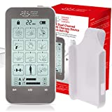 TENS Unit and EMS Combination Muscle Stimulator with 2 Channels, 12 Modes for Pain Management for Back, Neck, Arms, Legs, Abs, and Muscle Rehabilitation - with Belt Clip