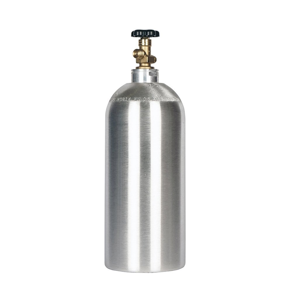 10lb co2 Tank New Aluminum Cylinder with CGA320 Valve by Beverage Elements (Image #1)
