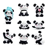 Muovst Refrigerator Magnets Fridge Magnets Panda Magnets, Office Magnets White Board Magnets Cute Dry Erase Board Magnetic for School Home Decorative Cute Fun Animal Magnets, 8 Pcs
