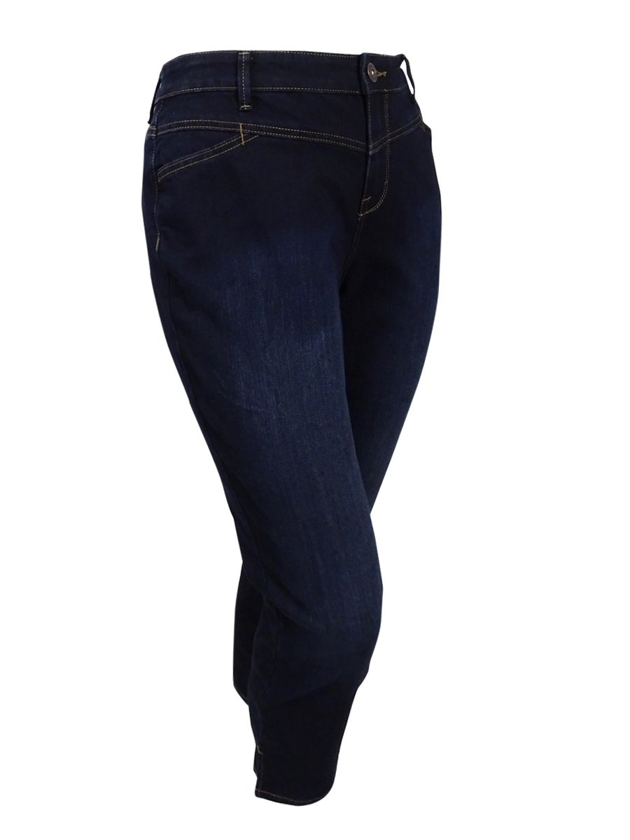 Style & Co. Womens Plus Split-Hem Mid-Rise Ankle Jeans Blue 14W by Style & Co.