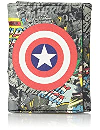 Marvel mens Trifold Wallet in Collectible Tin Box