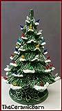 VINTAGE Style Ceramic Christmas Tree - Ceramic Christmas Tree 17'' tall - Ceramic Christmas Tree With Snow - Large Ceramic Tree - Snow tree