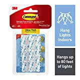 Command 4-packages of Mini Light Clips, Indoor Use, Clear, 160 clips total