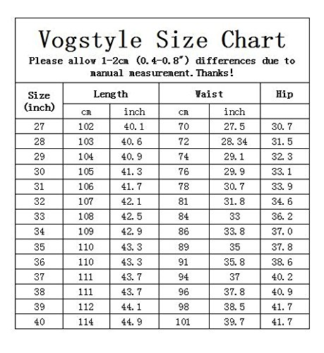 Vogstyle Men's Printed Distressed Ripped Long Straight Slim Fit Skinny Jeans Pants Style 1-White-32 by Vogstyle (Image #2)