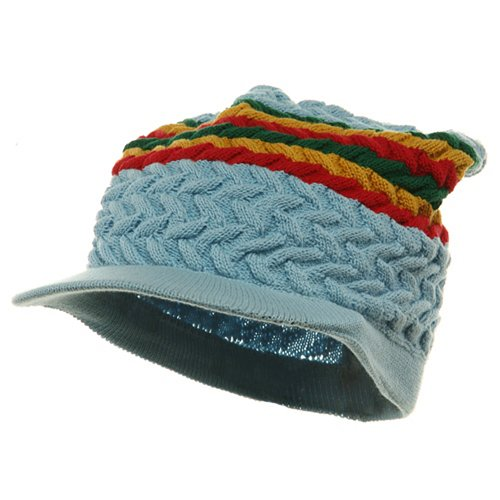 Wave Rasta Beanies - Wave Rasta Beanies Visors-Sky (for Big Head)