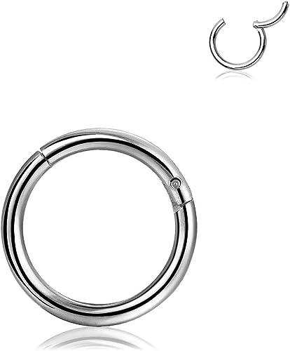 Surgical Steel Segment Ring Seamless Hoop Ring for Nose Lip Septum Ear Piercing
