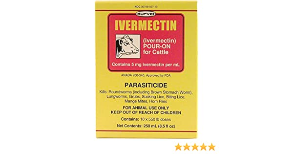 IVERMECTIN POUR ON FOR CATTLE - 250 MILLILITER