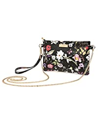 Aitbags Soft PU Leather Wristlet Clutch Crossbody Bag with Chain Strap Cell Phone Purse