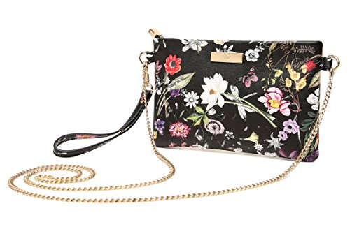Floral Leather Shoe Bag - Aitbags Soft PU Leather Wristlet Clutch Crossbody Bag with Chain Strap Cell Phone Purse