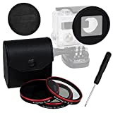 Fotodiox Pro WonderPana Go H3+ and HERO4 Standard Kit with Three Filters (UV, CPL, ND8) and Cap - GoTough Filter Adapter System for GoPro HERO3+ and HERO4 Underwater Housing Case
