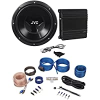 JVC CS-PK202 Sub+Amp Combo 12 1000 Watt Car Subwoofer+300w Amplifier+Amp Kit