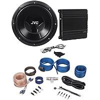 JVC CS-PK202 Sub+Amp Combo 12 1000 Watt Car Subwoofer+300w Amplifier+Amp Kit