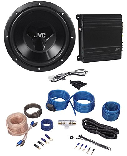 "JVC CS-PK202 Sub+Amp Combo 12"" 1000 Watt Car Subwoofer+300w Amplifier+Amp Kit"