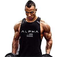 Hombre Camiseta de Tirantes Deportiva Bodybuilding Culturismo Fitness