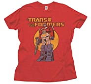 Junk Food Transformers Adult Heather Red T-Shirt