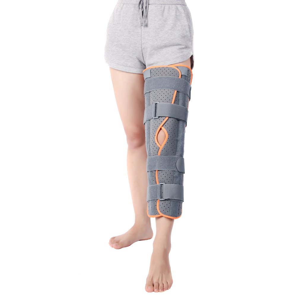 Wgwioo Knee Immobilizer Brace Straight Leg Comfort Rigid Support For Post Surgery Recovery For Recovery Aid Men And Women,Gray by Wgwioo