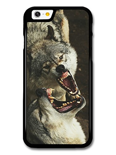 Two Wolves Howling Stunning Photograph of Wild Animals Wolf Moon case for iPhone 6 6S