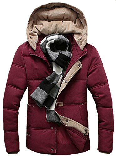 Casual Cotton Men EKU Coat Hit padded Hoodie red Color Zipper xxxl Jacket 5aA11p6q