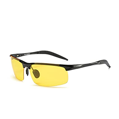 e7e5ce4b259 GELLVO Night Driving Glasses HD Polarized Yellow Lenses Anti Glare UV400 Sunglasses  for Men   Women