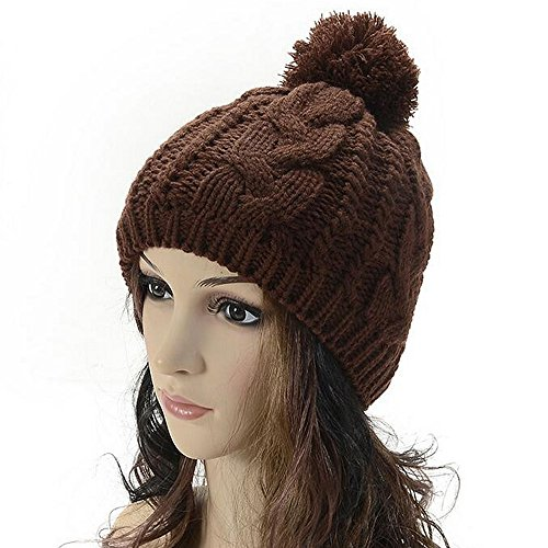 Knitting Wool Warm Hat - iParaAiluRy Unisex Fashionable Soft Cannabis Cap Beanie Hat in Winter and