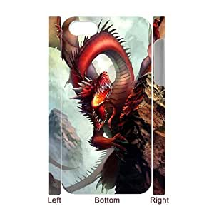 Y-M-D Red Dragon Hard Plastic 3D Phone Case Back Cover iPhone 4 4s