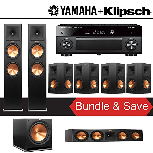 Klipsch RP-280F 7.1-Ch Reference Premiere Home Theater Package with Yamaha AVENTAGE RX-A3070BL 11.2-Channel Network AV Receiver by Klipsch
