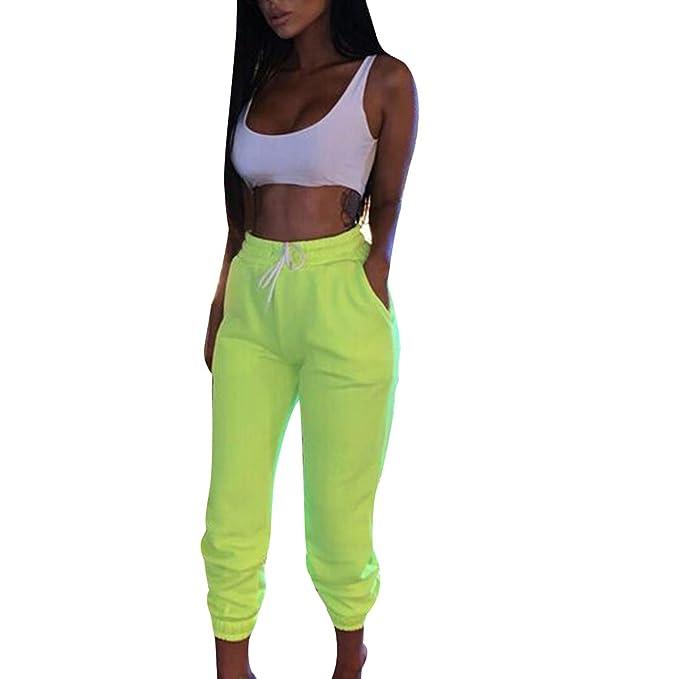 Kaizizi - Pantalones de chándal para Mujer Verde Verde M: Amazon ...